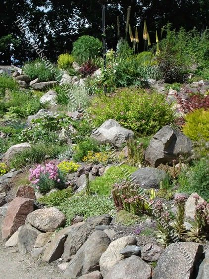 How To Landscape On A Slope With Rock : Beautiful hillside river rock landscaping ideas google