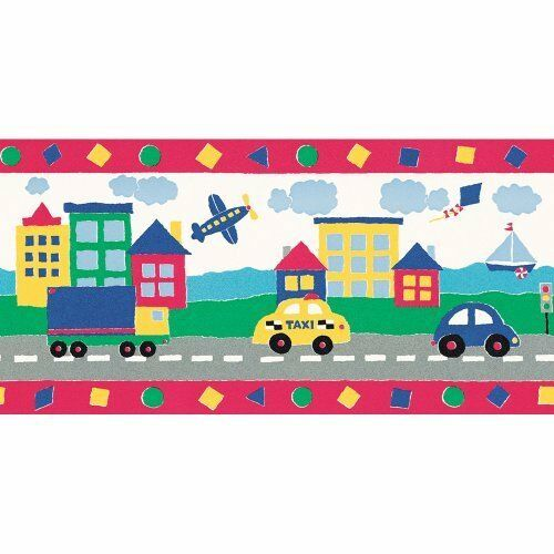 Details About Taxi Cars Airplanes Trucks Sailboat Kites Border