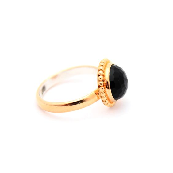 Black Onyx Gold Ring – Kate McCoy