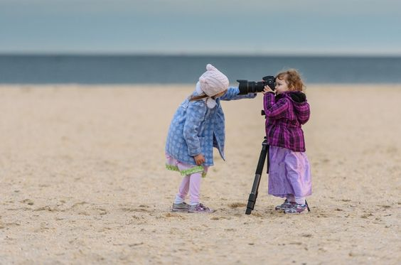 Not sure if giving a 4 & 2yr old a camera on sand is the smartest move, but sometimes you hav...