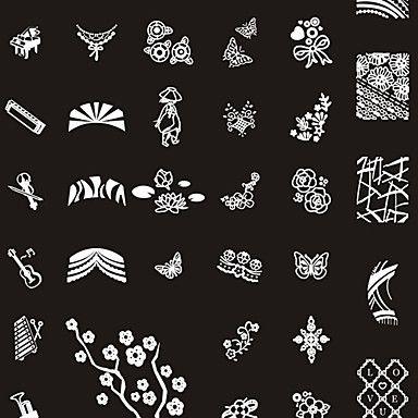 249 Designs Nail Art Stamp Image Plate/Big Nail Art Templates/Nail ...