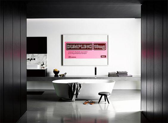 Big Bathroom Ideas Black White Bathroom Pink Art
