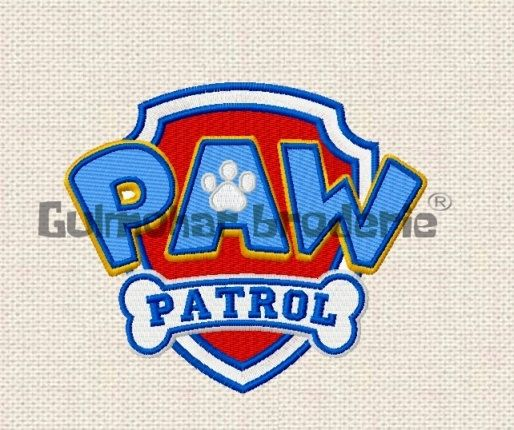Paw Patrol Logo Embroidery Designs Multiformat Pes Hus Jef Dst Exp Machine Embroidery 4 ...