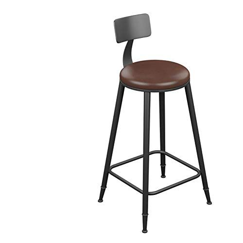Vovovo Metal Bar Stools Chocolate Kitchen Counter Stool