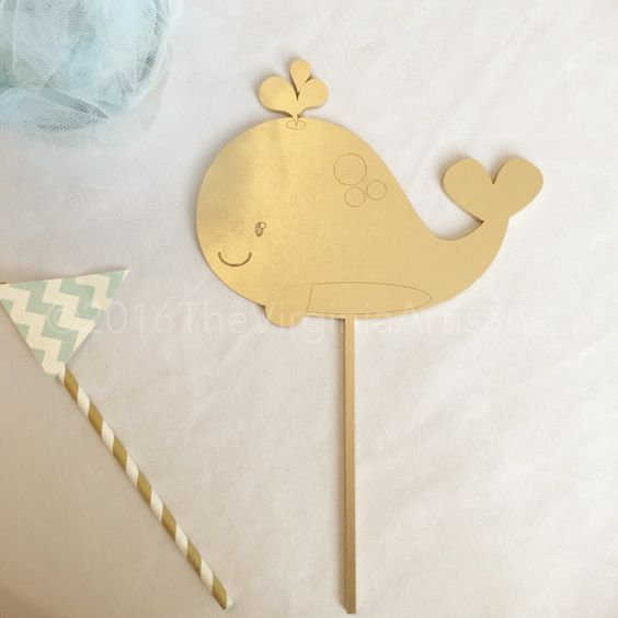 Baby+Whale+Cake+Topper.+Baby+Shower+Cake+by+TheVirginiaArtisans