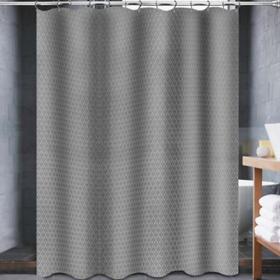 Curtains Ideas bed bath and beyond bathroom curtains : Buy Avalon 54-Inch x 78-Inch Shower Curtain in Grey from Bed Bath ...