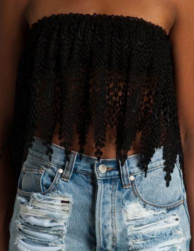: Cute Tops, Summer Outfit, Crop Tops, Dream Closet, Spring Summer, Denim Shorts, Summer Top