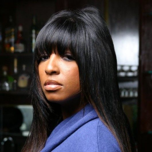 Straight Bangs Quick Weave And Bangs On Pinterest