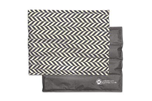 American Kennel Club Reversible Herringbone Cooling Pet Mat Bed