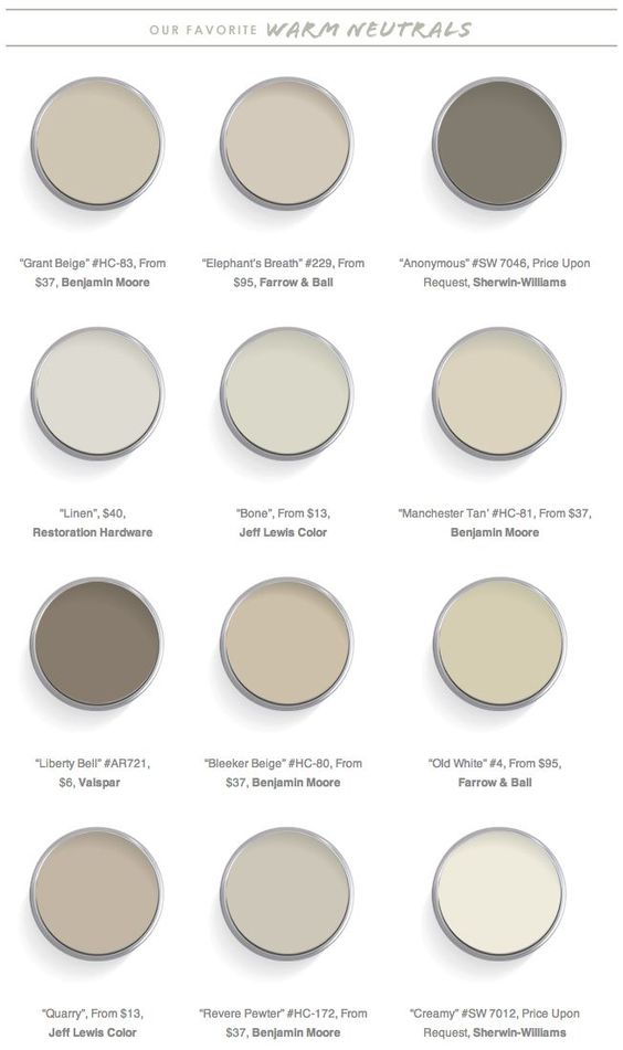 Top 28 warm neutral paint colors 1000 ideas about for Neutral cream paint color