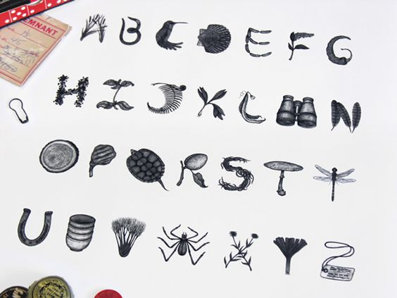 Glutton for Life Alphabet by Sasha Prood #typo