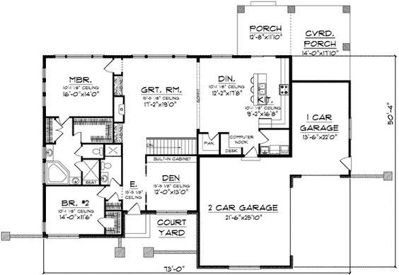 Plan 89684ah Prairie Style Ranch Home Plan Home Design