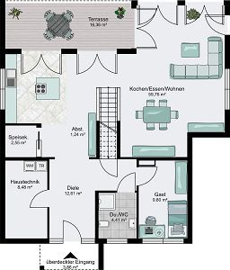 fertighaus modern flachdach grundriss die neuesten innenarchitekturideen. Black Bedroom Furniture Sets. Home Design Ideas