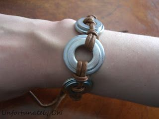 Unfortunately Oh!: Washer Bracelet tutorial