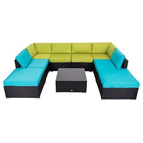 Check This Kinbor Patio Wicker Furniture Set 9 Piece Outdoor Pe