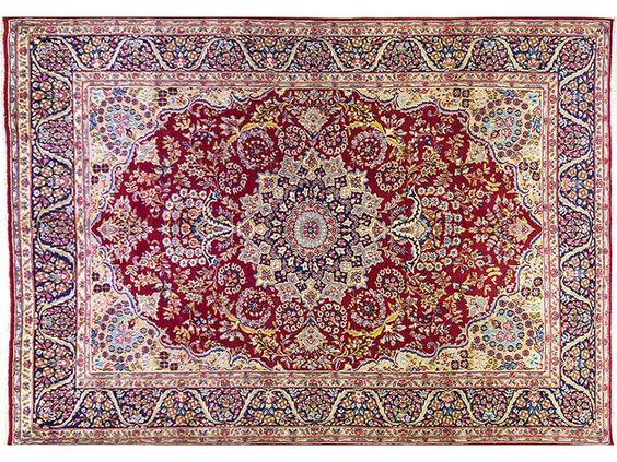 Persian Hand Knotted Kerman Carpet, 365 x 258