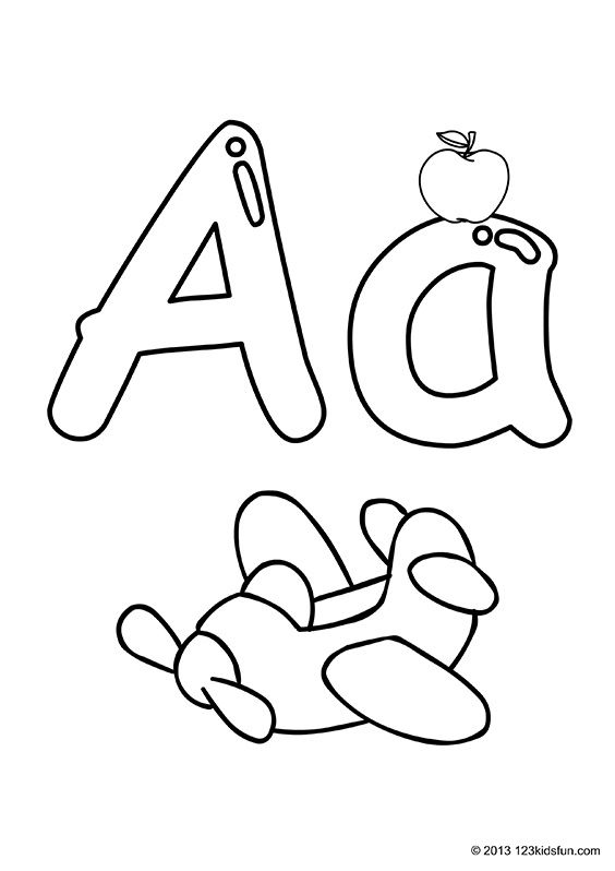 Colour In Alphabet 123 Kids Fun Apps Shape Worksheets For Preschool Alphabet Crafts Preschool Alphabet Letters To Print