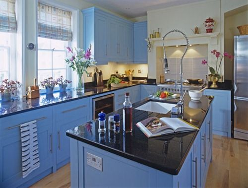 A periwinkle kitchen would be a happy kitchen!