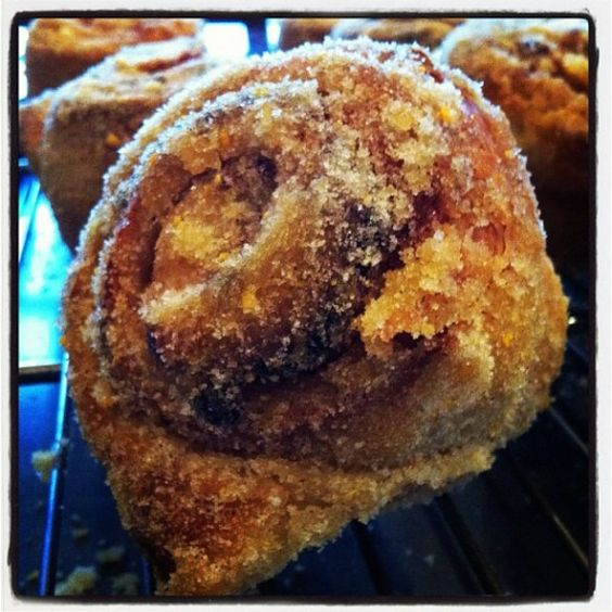 Peach Morning Buns (with cinnamon sugar)