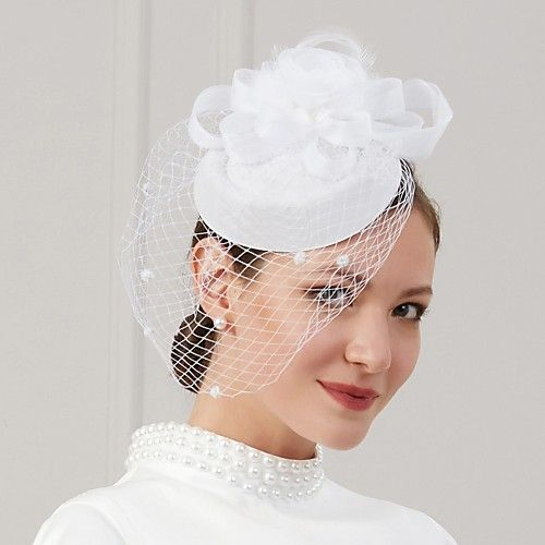 9 89 Feathers Net Fascinators Hats Headwear With Feather Cap Flower 1 Pc Wedding Special Occasion Headpiece In 2021 Fascinator Headpiece Fascinator Hats