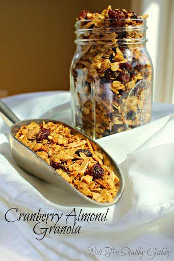 Cranberry Almond Granola Recipe on Yummly