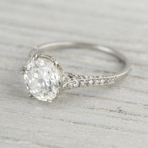 Image of 2.04 Carat JE Cawdwell Vintage Diamond Engagement Ring
