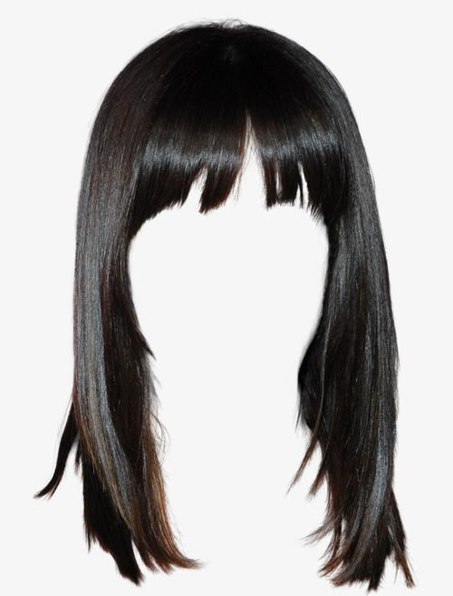 Western Style Black Hair Wig Free To Pull The Material Black