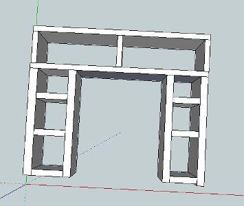 Ikea hacks mantels and faux fireplace on pinterest - Mantel plastificado ikea ...