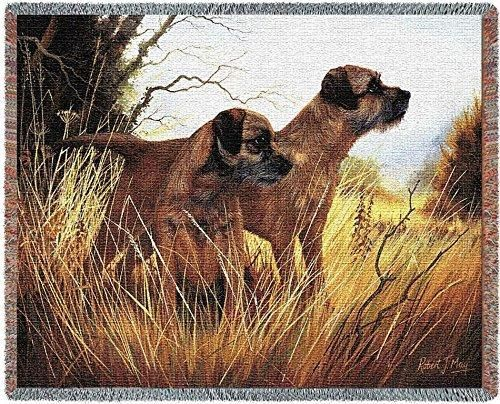 Pure Country 1139 T Border Terrier Pet Blanket Various Blended