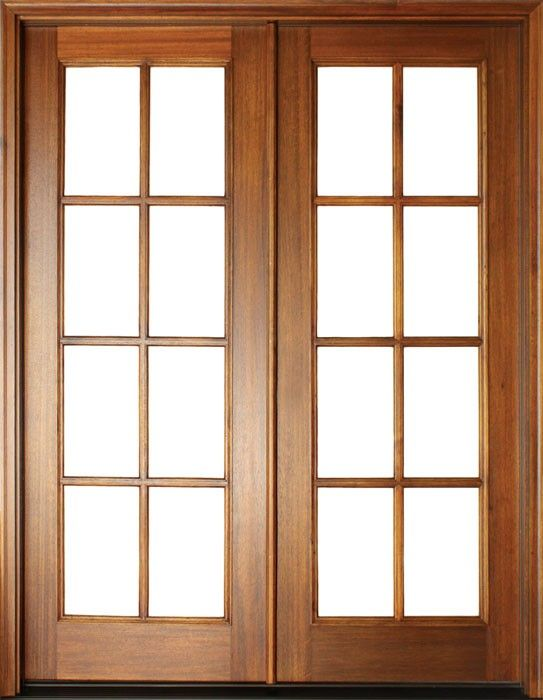 Mahogany Full View Sdl 8 Lite Impact Double Door 1 3 4 Thick Double Doors French Doors Patio French Doors Exterior