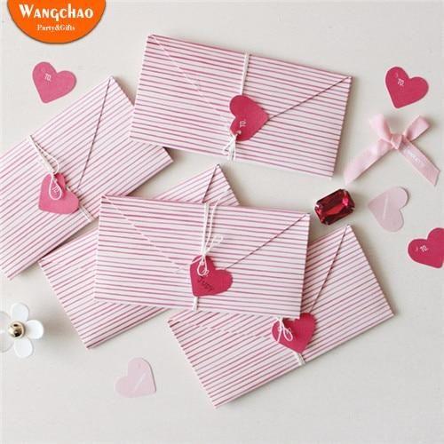 2pcs Bag Love Heart Mini Greeting Card Valentine S Day Gift Card