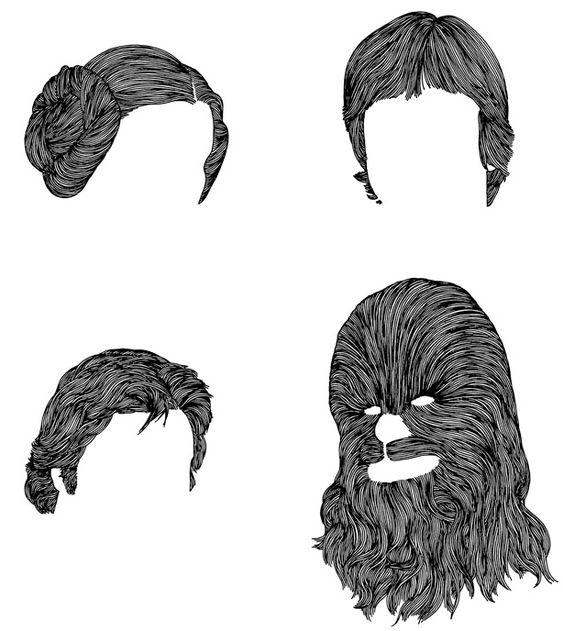 Star Wars Hair Portraits by Mr. Bingo