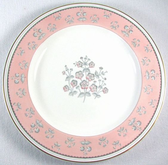 "Pimpernel Pink Wedgwood Bone China 13"" Round Platter Chop Plate W3652 Gold Trim #Wedgwood"
