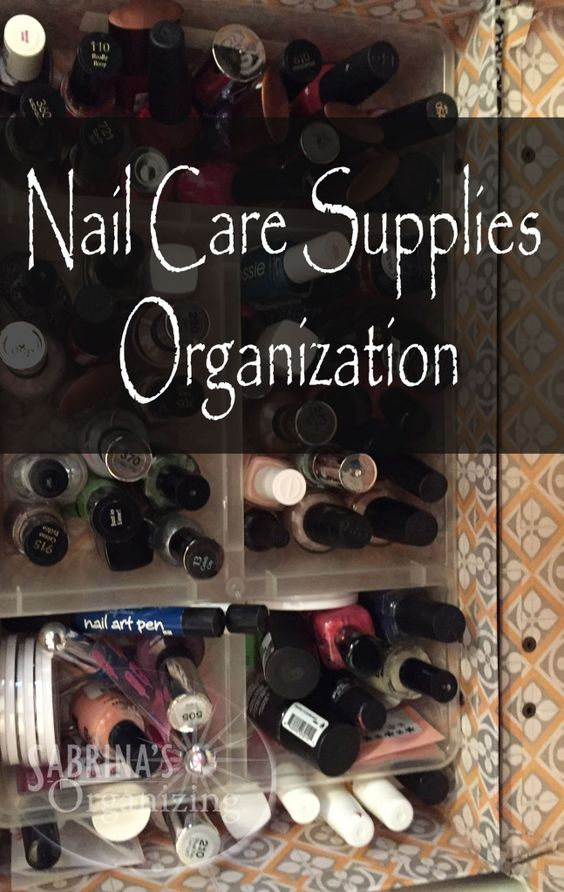 A new series, organizing small things, begins with nail care supplies organization.