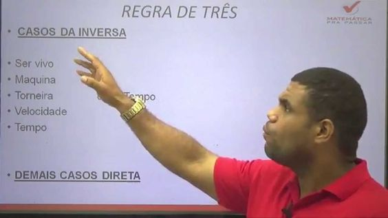 Matemática Pra Passar - Dica de Regra de Três