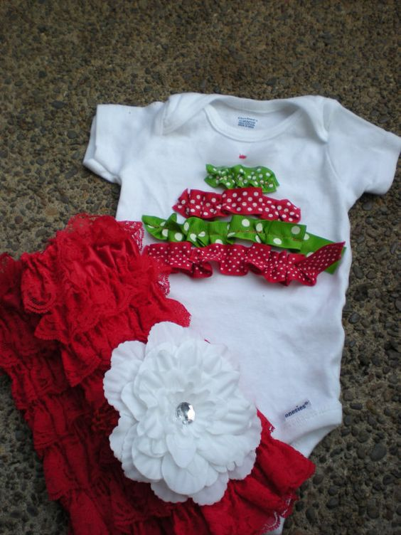 PonchoDean CHRISTMAS Girl OUTFIT Shirt Lace Leg by PonchoDean1, $49.50