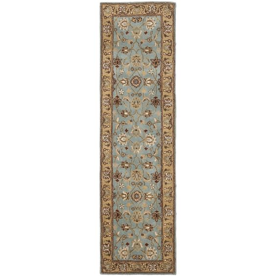 Safavieh Handmade Heritage Mahal Blue/ Gold Wool Runner (2'3 x 14')