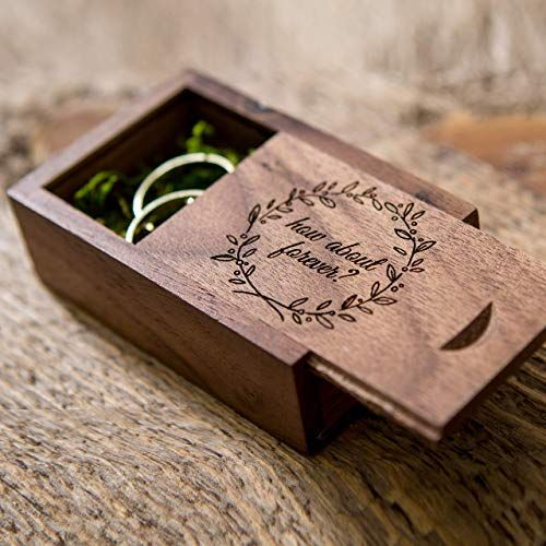 How about forever? Walnut Ring Box with moss filling for Proposals & Engagements