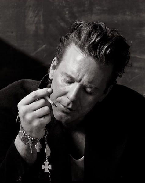 9 1/2 weeks Mickey Rourke when he was the handsome movie star before his ego took over and he believed he was still a boxer.