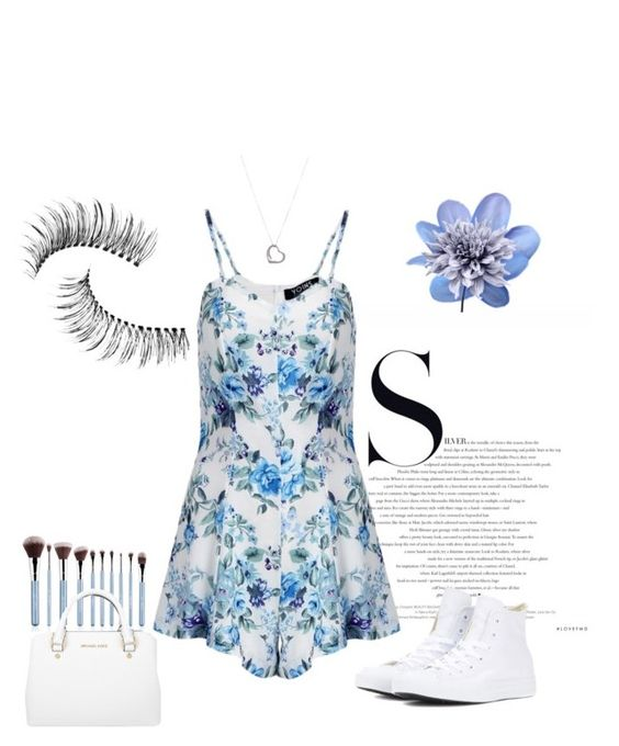"""""""Blue Style💙"""" by sannaj ❤ liked on Polyvore featuring Converse, Tiffany & Co., Trish McEvoy, Art Addiction and Michael Kors"""