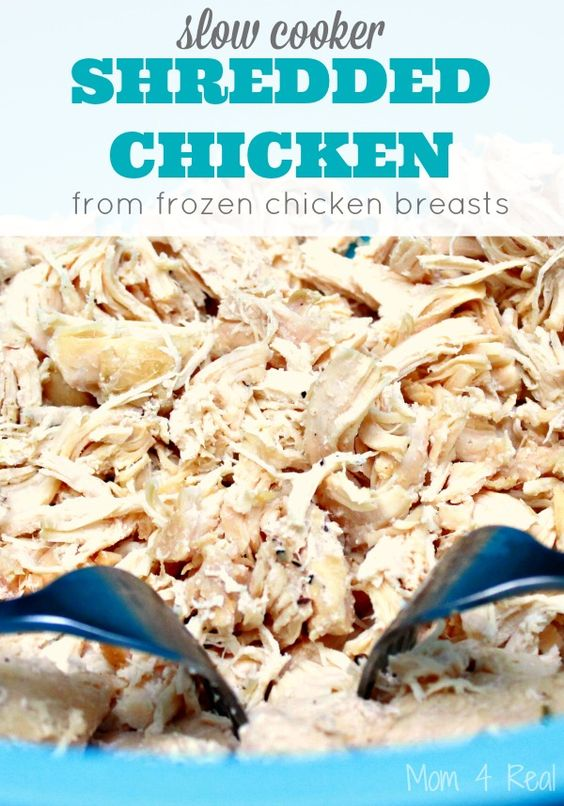#2 – just toss the cream cheese and cheese right into the slow cooker on top of everything else and cover. That's it 🙂 #8 – the chicken has been removed and you have added the cornstarch mixture to the slow cooker.