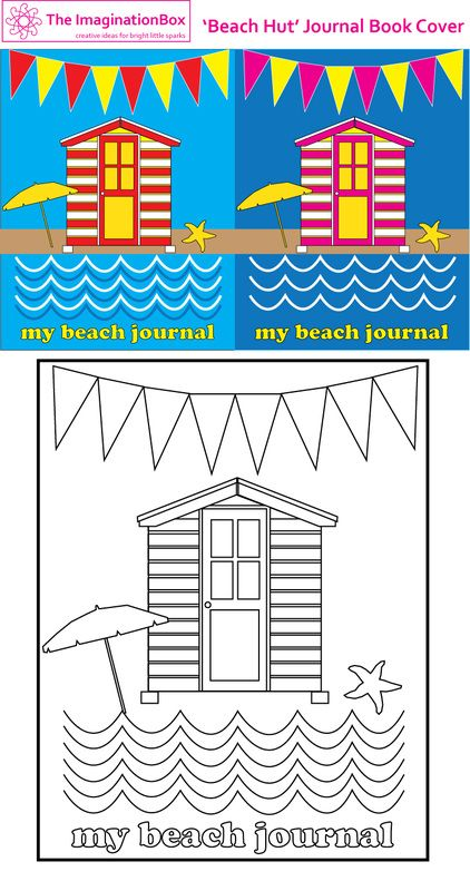 Journal covers Beach huts and Journals on Pinterest