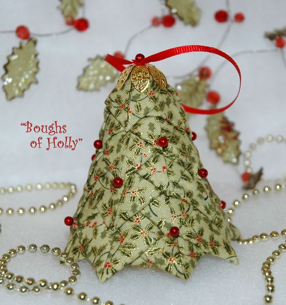 Quilted Fabric Tree Ornament Or Decoration Kit And