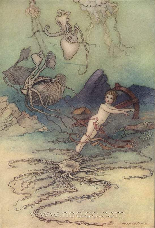 Warwick Goble Illustration From The Water Babies 1909 Goble
