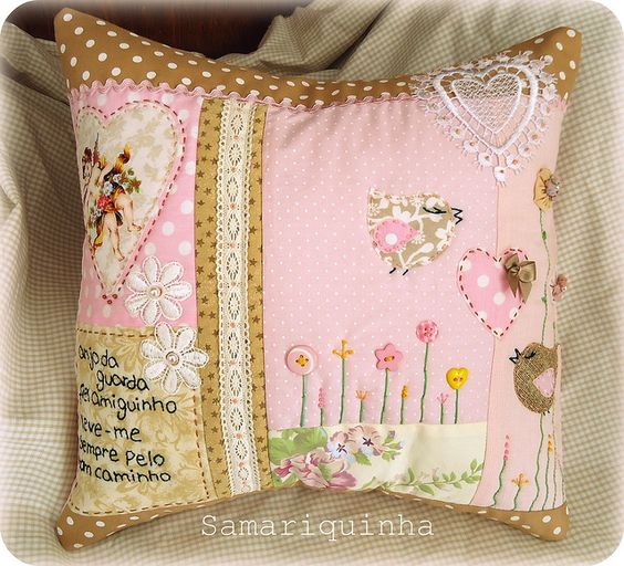 cojín de patchwork - Samariquinha: Подушки Pillows, Throw Pillows, De Patchwork