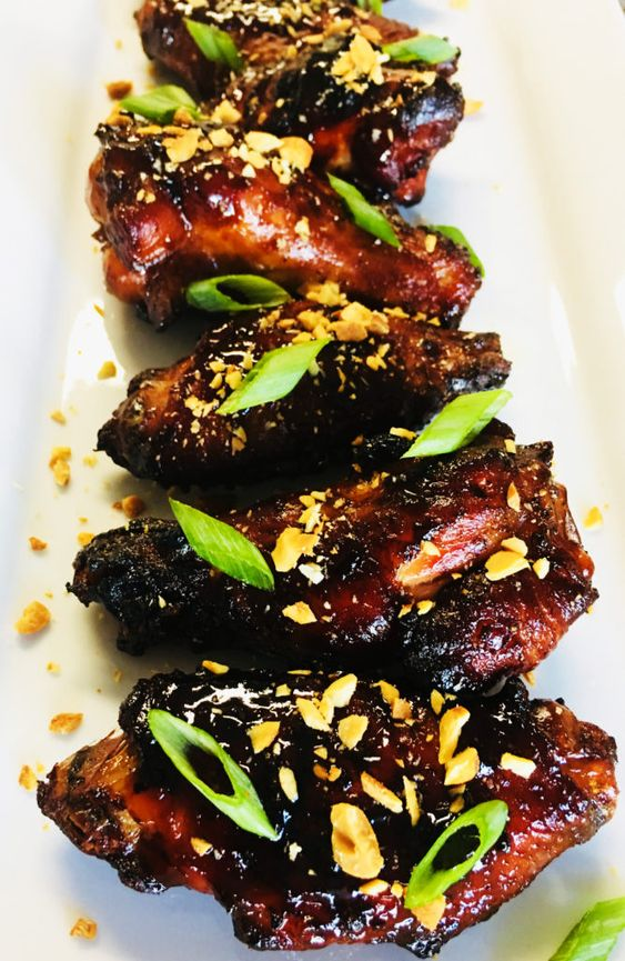 Sweet and Sticky Thai Chicken Wings - Cooks Well With Others