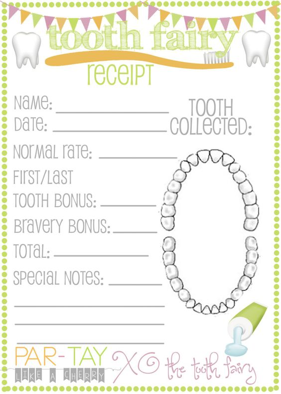 The Tooth Fairy Came Tooth fairy receipt, Tooth fairy and Teeth - blank receipt template
