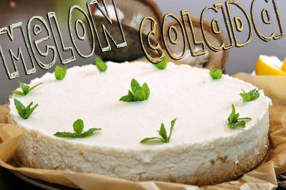 Melon-Colada-Kuchen, vegan