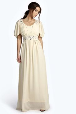 Ava Angel Sleeve Embellished Maxi Dress. Grab marvelous discounts up to 60% Off at Boohoo using Coupon & Promo Codes.