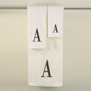 Monogram Letter Fingertip Towel